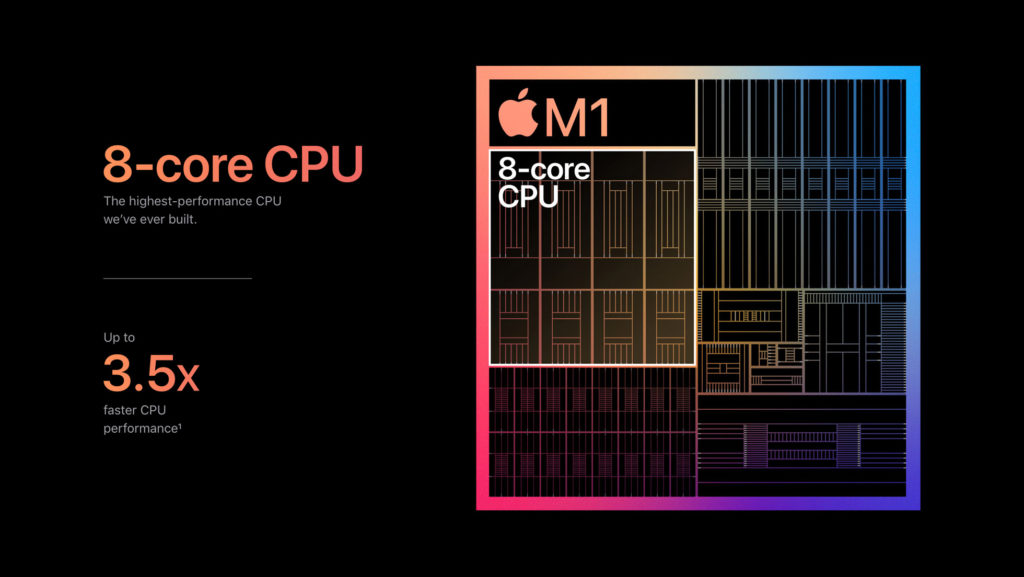 Apple M1 Chip copyright by Apple
